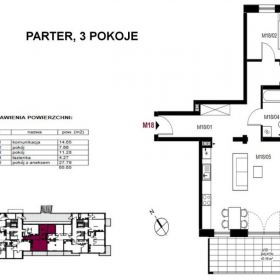 Komfortowe mieszkanie trzypokojowen 65,66 m2